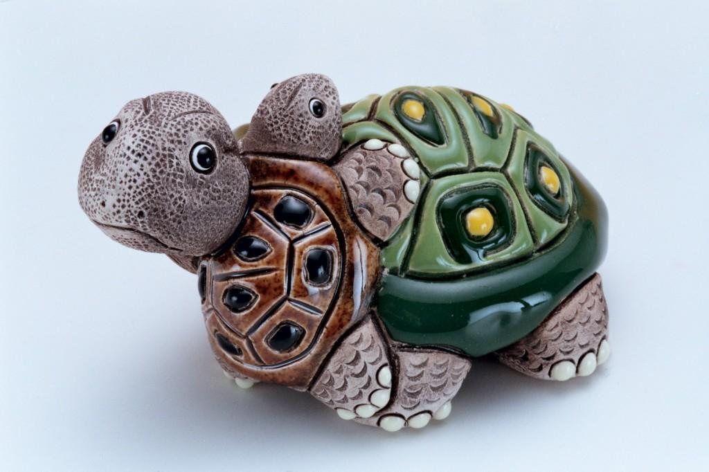 128南美洲陶土母子龜