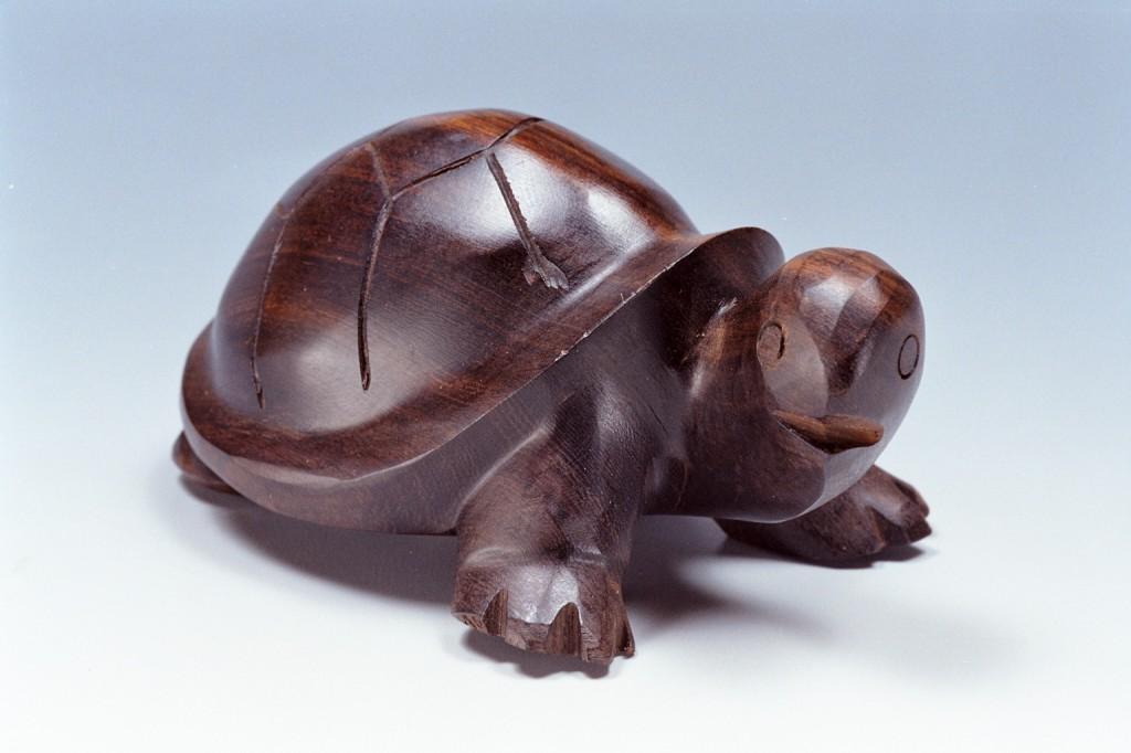 350木雕烏龜