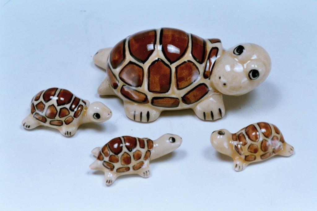 395陶土母子龜