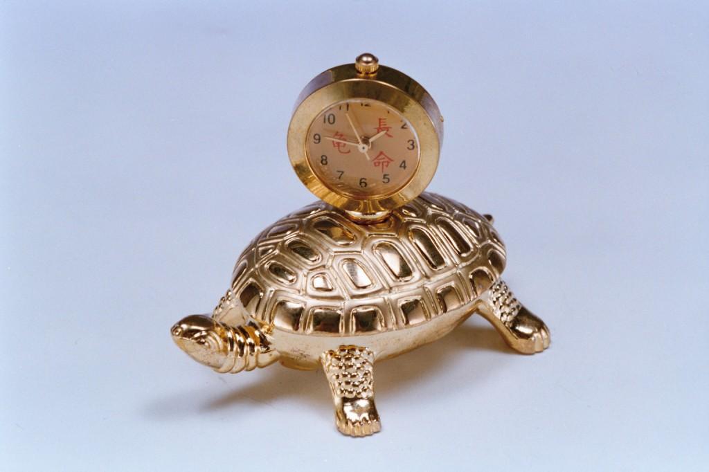 437黃銅烏龜時鐘