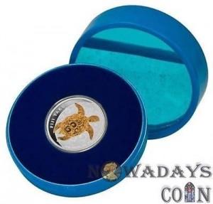 藍色圓型塑膠盒