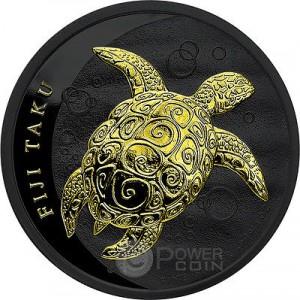 黑底鍍金銀幣
